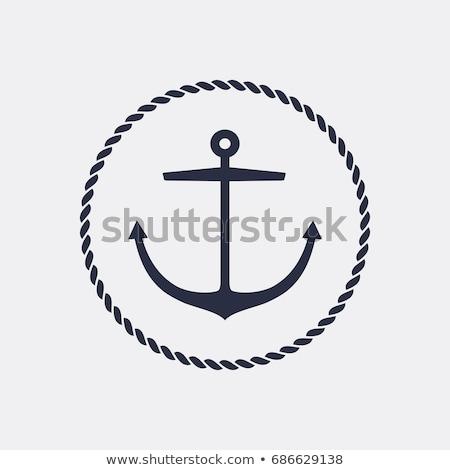 Kotwica ikona wektora niebieski symbol projektu Zdjęcia stock © blaskorizov