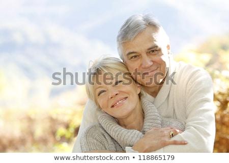oude · man · vrouw · hemel · senior · kaukasisch · paar - stockfoto © kzenon