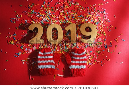 Warm Wishes Greeting Card 2019 New Year Holiday Stock photo © robuart