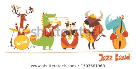 Dieren vector jazz muziek band Stockfoto © Giraffarte