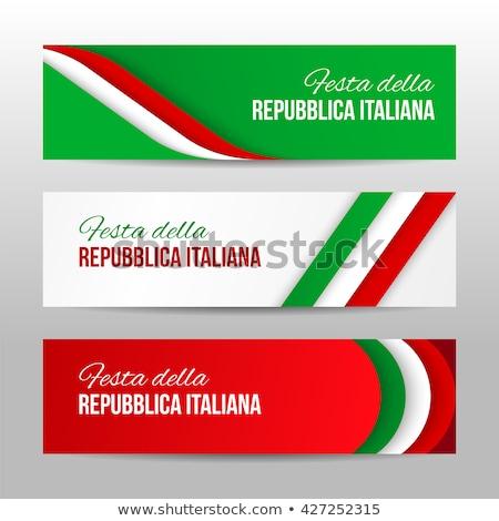 ストックフォト: セット · 水平な · バナー · イタリア · eps · 10