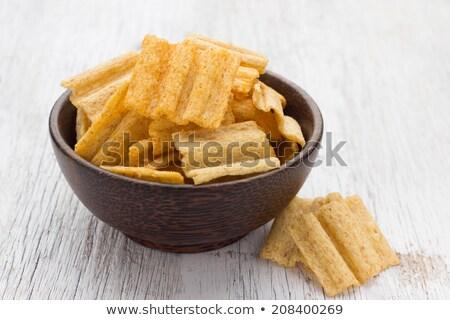 snacks · geheel · graan · houten · kom · brood - stockfoto © eddows_arunothai