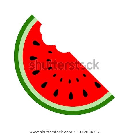 ломтик дыня иллюстрация белый текстуры фрукты Сток-фото © ConceptCafe