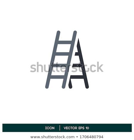 ikon · Bina · dizayn · yalıtılmış · inşaat · ev - stok fotoğraf © angelp