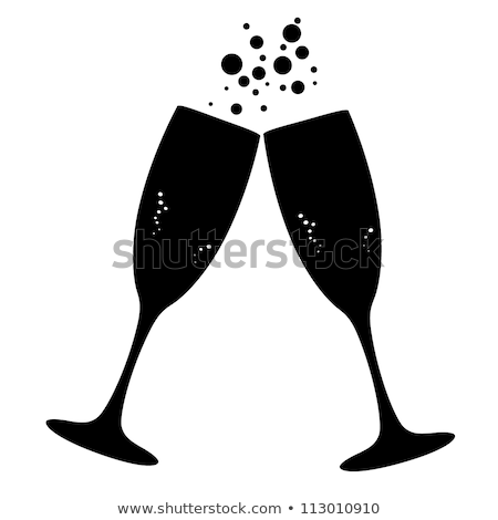 happy friends clinking champagne glasses at party stock photo © dolgachov