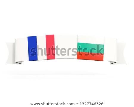 баннер два квадратный флагами Франция Болгария Сток-фото © MikhailMishchenko