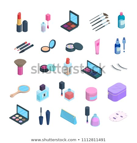 cosmetic color isometric icons stock photo © netkov1