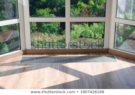 White heating radiator in the room Stock photo © magraphics