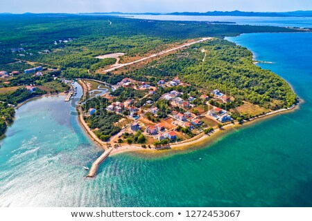 Plaży cap widok z lotu ptaka region Chorwacja wody Zdjęcia stock © xbrchx