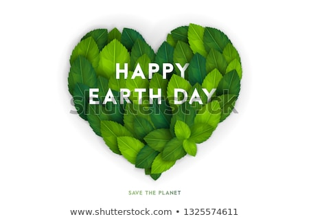 Carta verde pianeta foglia internazionali Foto d'archivio © cienpies
