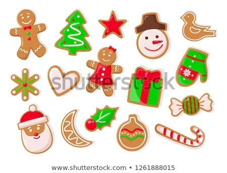 Natal férias simbólico pão de especiarias bolinhos isolado Foto stock © robuart