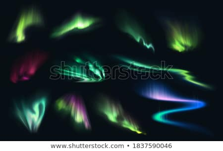 Realistic Northern Polaris Aurora Light Vector Stockfoto © pikepicture