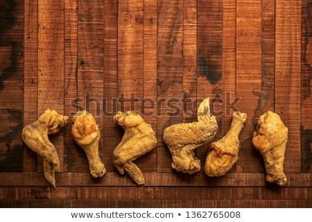flat lay original recipe fried chickens Stock photo © szefei