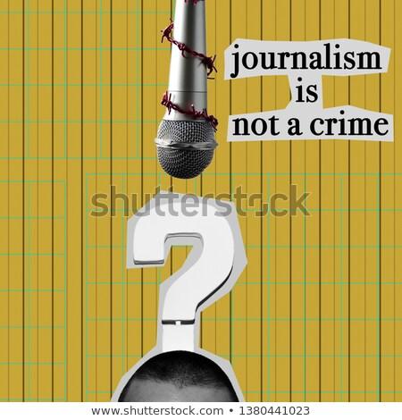 prikkeldraad · tekst · mensenrechten · shot · stuk · papier - stockfoto © nito