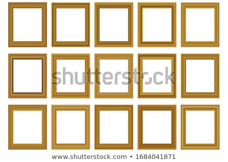 photo frame big set with yellow background stock photo © cammep