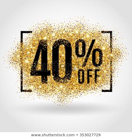 Vente 40 pour cent bannière réduction design Photo stock © FoxysGraphic