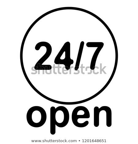 Ikona arrow numery otwarte obsługa klienta 24 Zdjęcia stock © ussr