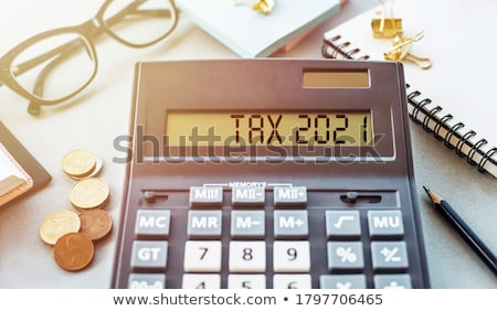 Tax word Stock photo © Spectral