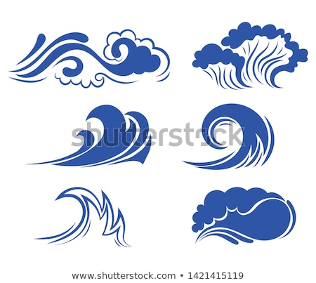 vector sea tidal wave splash element Stock photo © VetraKori
