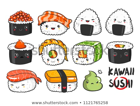 Vector sushi color sketch, set Stock photo © netkov1