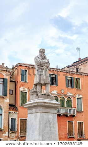 Monument to Italian linguist Niccolo Tommaseo in Venice, Italy Stock photo © boggy