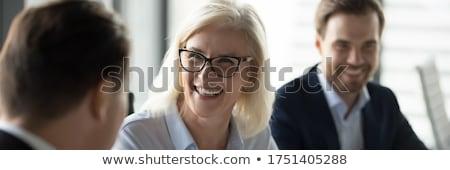 привлекательный · старший · менеджера · компания · позируют · стиль - Сток-фото © giulio_fornasar