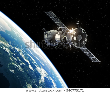Spacecraft Orbiting Earth. 3D Illustration. Stock photo © mechanik