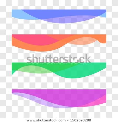 Resumen colorido curva forma banners establecer Foto stock © SArts
