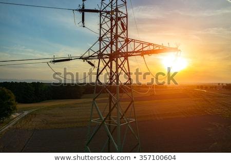 wieża · moc · line · Błękitne · niebo · elektrycznej · budowy - zdjęcia stock © dolgachov