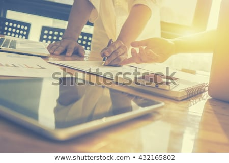 Two businessmen at work, Business crew working with new startup  Stock photo © Freedomz