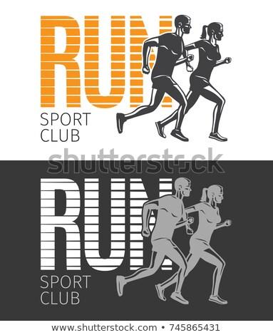 rajz · szett · illusztráció · sportoló · betűk · sportok - stock fotó © robuart