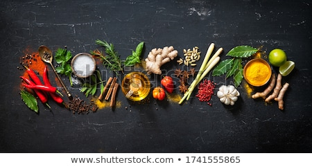 Suszy kulinarny przyprawy martwa natura wybór asian Zdjęcia stock © grafvision