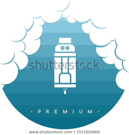 cloud theme vaporizer electric cigarette smoke device Stock photo © vector1st