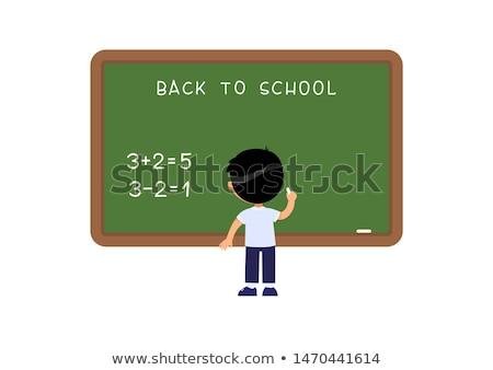People Stand near Blackboard, Back to School Stock photo © robuart