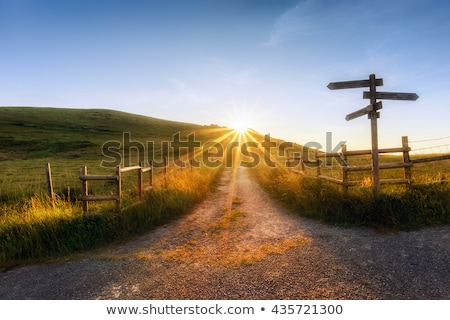Signpost on path Stock photo © jsnover