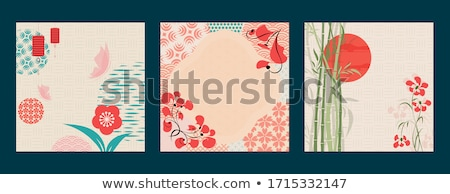 Red mid autumn banner of papercut asian decoration Stock photo © cienpies