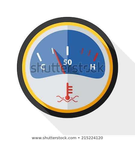 Motore temperatura icona vettore isolato bianco Foto d'archivio © smoki