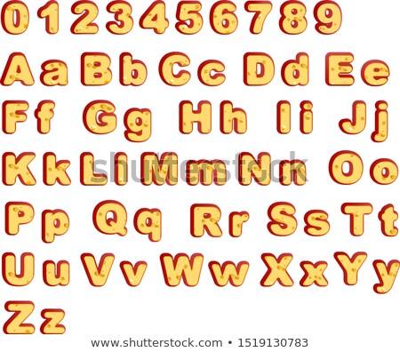 Sajt betűtípus év szimbólum vektor Stock fotó © orensila