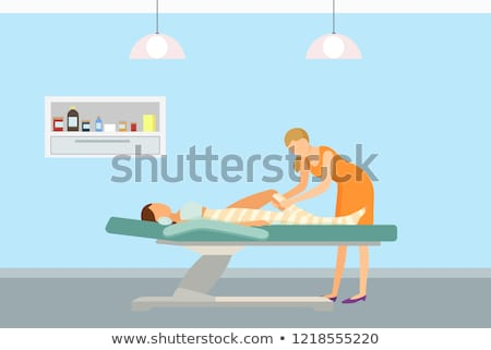 Body Wrap Skincare in Spa Salon Client Vector Stock photo © robuart