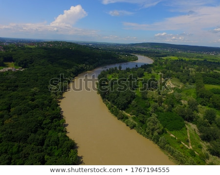 Landscape view of the river overflow  Stock photo © dariazu