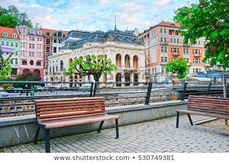 Város színház Csehország évek stílus épület Stock fotó © borisb17