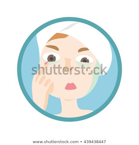 Menina pálido pele ilustração mulher cor Foto stock © lenm