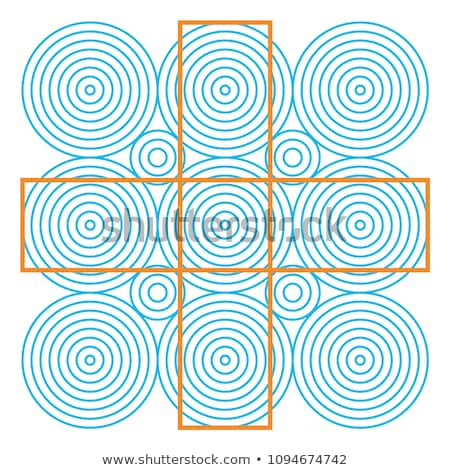 Graphic fiction and visual paradox. Hypnotic optical illusion. Different magical shapes to deceive b Stock photo © ukasz_hampel