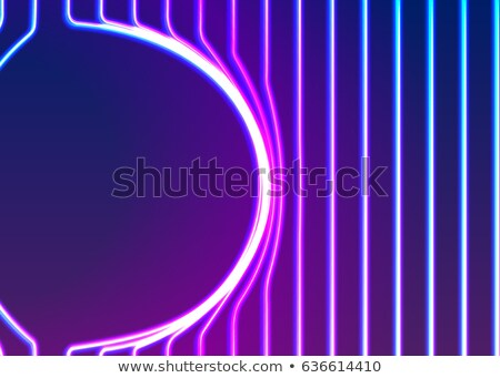Neon lines background with glowing 80s new retro vapor wave style Stock photo © SwillSkill