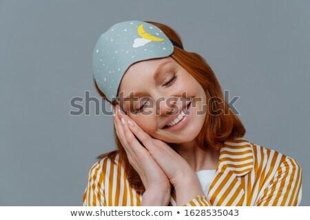 Tiro tenro mulher gengibre cabelo Foto stock © vkstudio