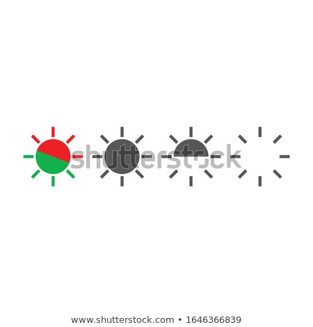 Light indicators, flashing diode attention lights, siren flash icon, vector illustration isolated on Stock photo © kyryloff