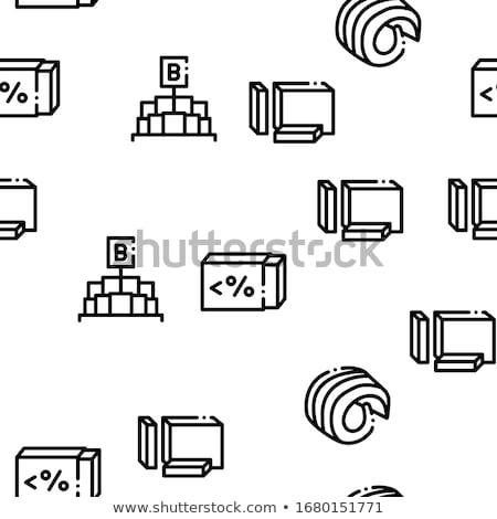Butter Or Margarine Seamless Pattern Vector Stock photo © pikepicture