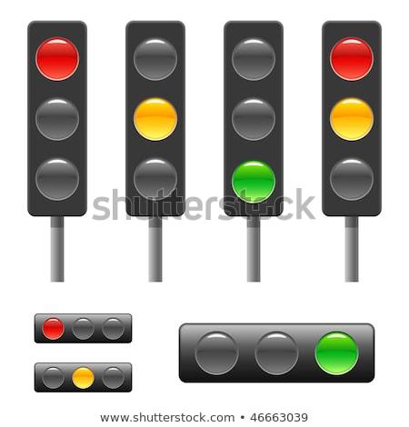 信号 · ボタン · ベクトル · 光 · 緑 · トラフィック - ストックフォト © fotoscool