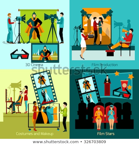 Fashion and movie industry abstract concept vector illustrations. Stock photo © RAStudio