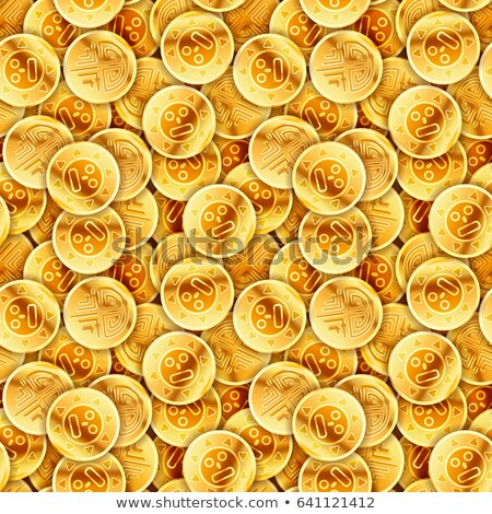 Placer of glossy old gold coins, seamless pattern Stock photo © evgeny89